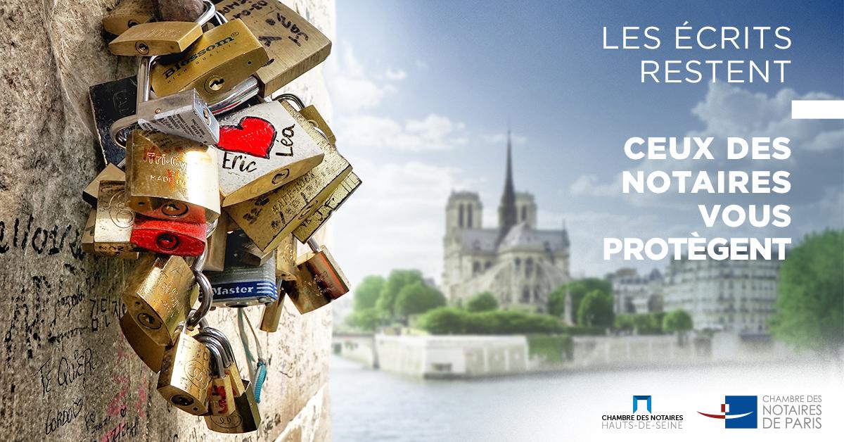 Reflexenotaire une campagne de communication des for Chambre notaires paris