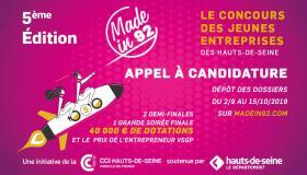 Made in 92, le concours des jeunes entreprises des Hauts-de-Seine : ouverture des candidatures du 2 septembre au 15 octobre !