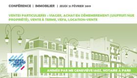 """#VIDEO - Conférence """"Ventes immobilière particulières : viager, achat en nue-propriété, vente à terme, location-vente, vente aux enchères…"""""""
