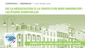 """#VIDEO - Conférence """"De la négociation à la signature : les étapes essentielles de l'achat et de la vente immobilière"""""""