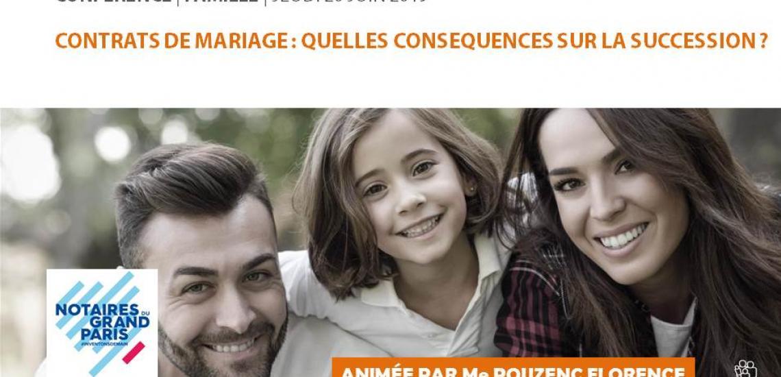 """#VIDEO - Conférence """"Contrats de mariage : quelles conséquences sur la succession"""""""